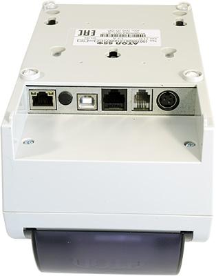 Порты АТОЛ 55Ф: LAN, заглушка для антенны GSM, USB-B, COM, RJ-11, порт питания