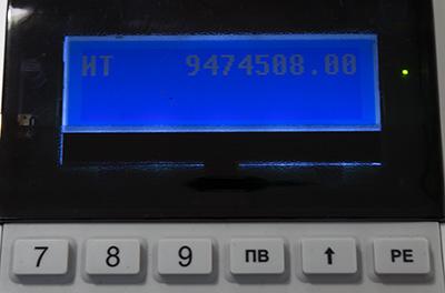 LED экран на Меркурий-115Ф